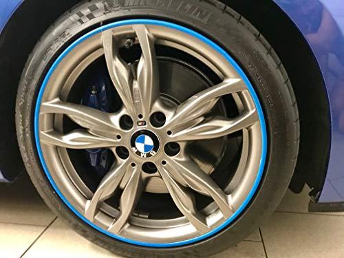 Scuffs by Rimblades FELGENSCHUTZ & Styling Felgenschutzring Alu Felgen Ringe Felgenstyling Rim Protector Guard Ringz (Blau)