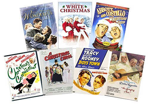 Classic Christmas 7-Movie DVD Collection: It's a Wonderful Life / White Christmas / Christmas in Connecticut / A Christmas Carol / Boys Town / The Singing Nun / Abbott & Costello Christmas Show