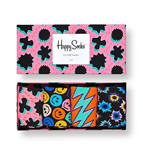 Happy Socks Gemischt farbenfrohe Geschenkbox an Baumwollsocken für Männer und Frauen,Festival Gift Box,36-40