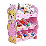 Home Equipment Toy Storage Bins Kids Toy Storage Organizer With Plastic Bins Storage Box Shelf Drawer– Perfect For Household Storage Fabrics Or Toys Toy Box Basket for Bedroom ( Color : Pink Size :