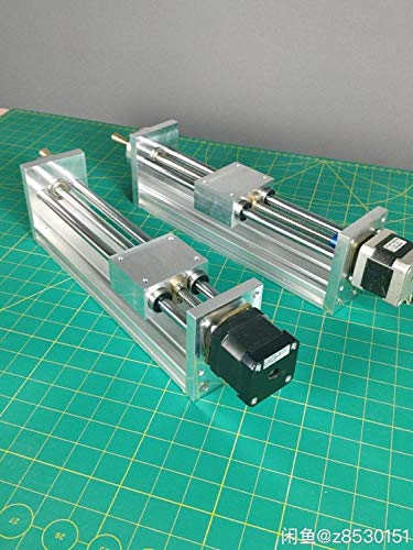 XBaofu 1 Juego NEMA17 Motor de Pasos del CNC del Carro del Eje Z 200 mm Perfil Pitch1MM for CNC Router Impresora de Movimiento Lineal Kit for Reprap 3D CNC de Piezas (tamaño : with NEMA17 Motor)