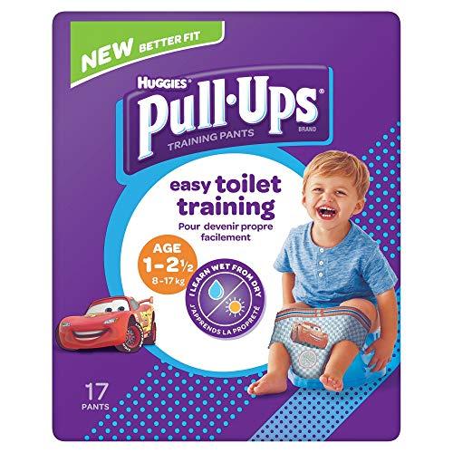 Huggies Pull Ups Day Time - Pantalones de entrenamiento para niños de 1 a 2,5 años (8 a 17 kg) 17 pantalones
