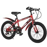 Zhan yi shop suspensión exlipse bici de montaña for niños, bicicletas de montaña 18-20inch ruedas/marco pequeño acero y 7 velocidades shimano tren de transmisión, pata de cabra incluido