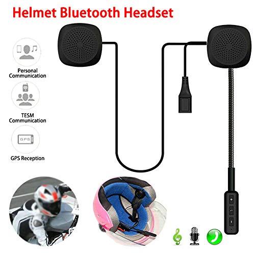 LAOOWANG Motorradhelm Headset Mikrofon und Lautsprecher Bluetooth 4.2 HD Freisprecheinrichtung