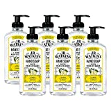 JR Watkins Gel Hand Soap, Lemon, 6 Pack, Scented Liquid Hand Wash for Bathroom or  Kitchen, USA Made and Cruelty Free,...