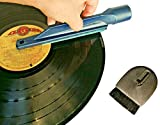 Record Cleaner Kit with Vinyl Anti Static Brush, Vacuum Attachment and Dust Brush for Music Records Cleaning