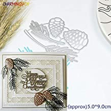 Arts Crafts Metal Cutting Dies 4Pc Christmas Pine Cones Scrapbook Card Paper Craft Made Embossing Stencils Punch