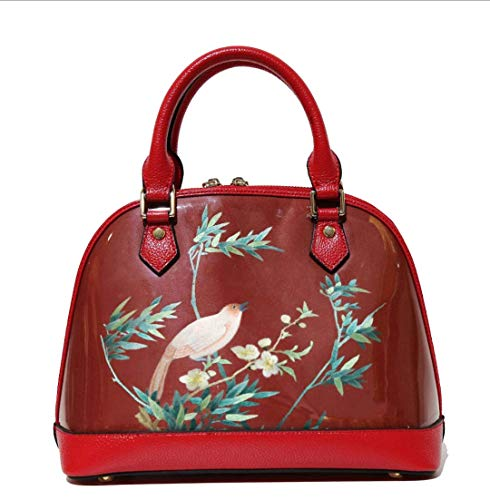 Great Features Of HangErFeng Suzhou embroidery bag, cow leather bag, shell bag, hand embroidered flo...