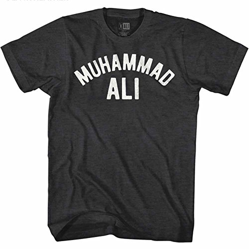 Muhammad Ali 60s Goat Greatest Boxer Black Heather Adult T-Shirt Tee