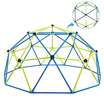 Albott Dome Climber - Jungle Gym Geodesic Climbing Dome for 3-10 Years Old Kids Outdoor Toys with Rust and UV Resistant Steel Frame Supports 800lbs Playground Dome with Much Easier Assembly  11FT
