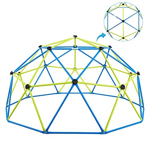 Albott Geometric Dome Climber 10' x 5' - Anti-Rust Jungle Gym Outdoor UV-Resistant Kids Climbing Dome - 800 LBS Weight Capacity - Safe for 1-6 Kids Climbing (10FT)