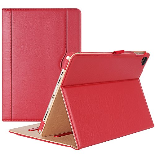 iPad Pro 9.7 Case - ProCase Stand Folio Case Cover for Apple iPad Pro 9.7 Inch 2016, with Multiple Viewing Angles, Document Card Pocket (Red)