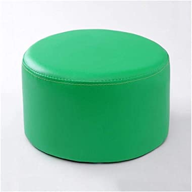 Carl Artbay Wooden Footstool Green Stool Children's Leather Stool Home Changing His Shoes Stool Home