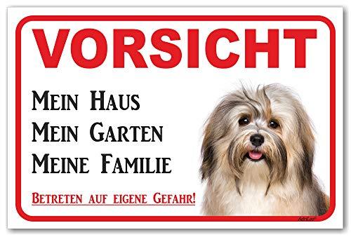 AdriLeo Schild - Vorsicht Havaneser - Mein Haus - (20x30cm) / Achtung Hund Wachhund