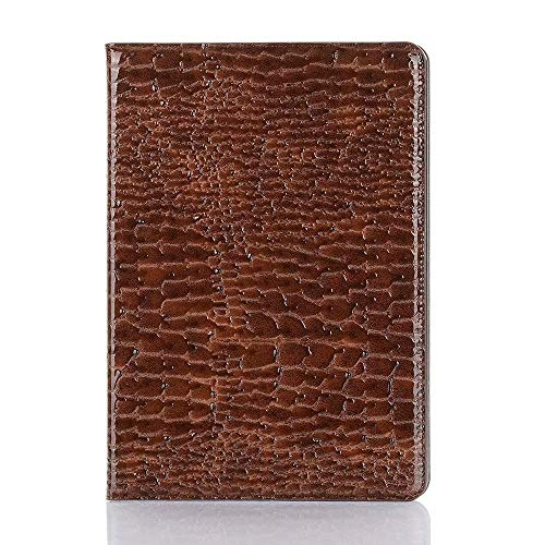 SHENGZHENHAOLIJJYPSH Crocodile Leather Interchange Stand Light-Weight Tablet Case Cover Compatible with iPad Air (3rd Gen) 2019 / iPad Pro 10.5 2017 (Color : Brown)