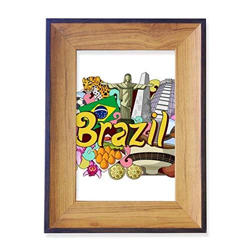 DIYthinker Soccer Oscar Niemeyer Brazil Graffiti Photo Frame Exhibition Display Art Desktop Painting