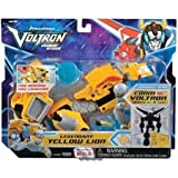 Fun Kids and Collectible Voltron Legendary Defender with Fire Armored Disc Launcher - Yellow