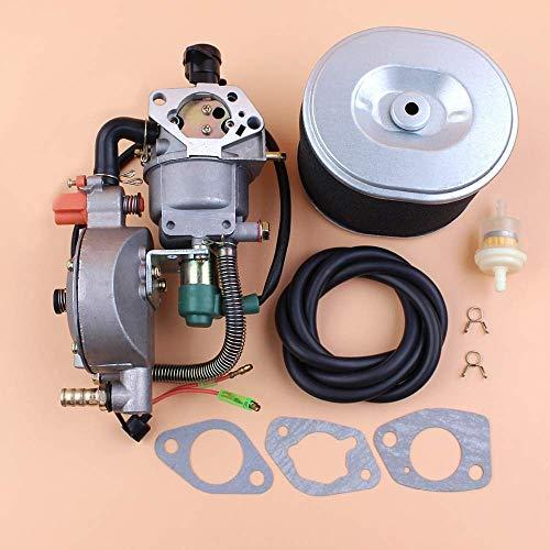 HaoYueDa Kit de Junta de Filtro de Aire de carburador de Combustible Dual con estrangulador automático para Honda GX390 Chino 188F 190F 11HP generador de Motor de Gasolina y Motor