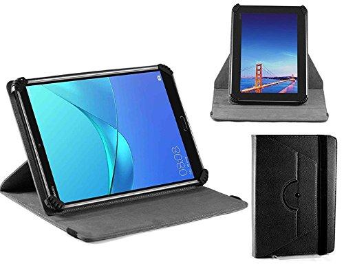Navitech schwarz Ledertasche/Abdeckung mit 360 Drehständer für die Simbans TangoTab 10 Inch Tablet