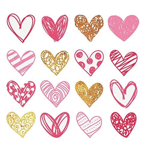 ZZBO Kreative selbstklebende Wandaufkleber herzförmige Aufkleber Wanddekoration Liebesaufkleber können entfernt werden für Babyzimmer Schlafzimmer Wohnzimmer Zuhause Dekoration
