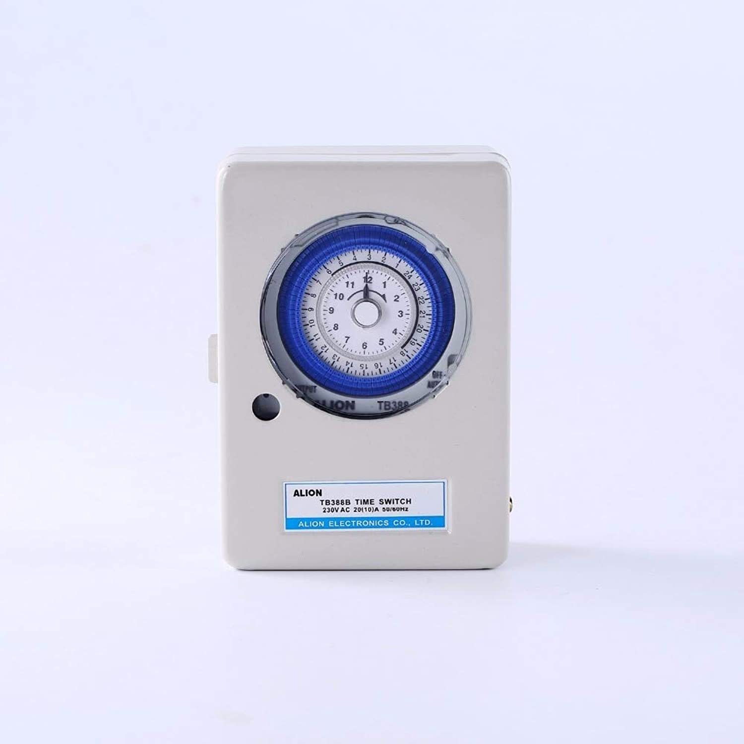 TB38B AC220V 10A Mechanical Time Switches Manual Auto Control Timing Range 24 Hours