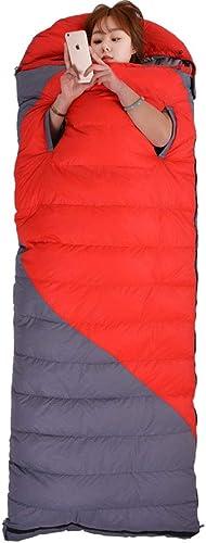 JBHURF Le Sac de Couchage portatif de Camping en Plein air d'hiver de Sac de Couchage d'hiver approprié à la randonnée (Capacité   1.8kg, Couleur   rouge)
