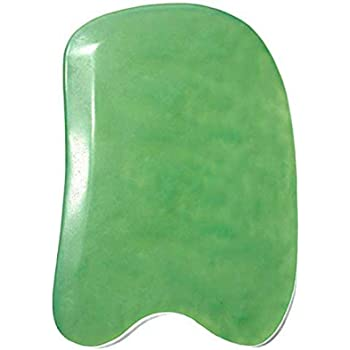 PINKCITY CREATION:Best Jade Gua Sha Scraping Massage Tool Hand Made Jade Guasha Board - Great Tools for SPA Acupuncture Therapy Trigger Point Treatment on Face [Square]