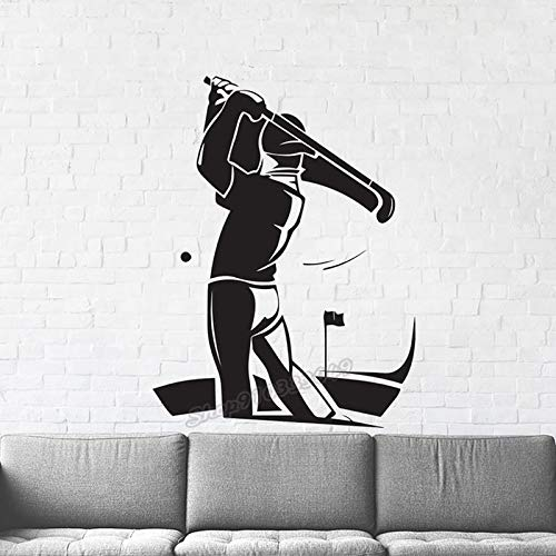 Pegatinas de pared Adhesivos Pared Decoración de pared deportiva de golf Pelotas de golf personalizadas Hombres Mujeres Regalos Hermosa decoración de dormitorio de vinilo deportivo de golf 103x77cm