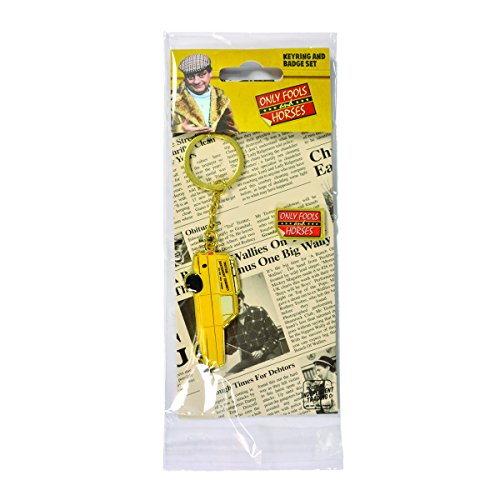 Official Only Fools and Horses Keyring and Badge Set