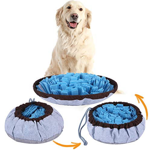 Pet Arena Adjustable Snuffle mat for Dogs, Dog Puzzle Toys, Enrichment Pet Foraging mat for Smell Training and Slow Eating, Stress Relief Interactive Dog Toy for Feeding, Dog Mental Stimulation Toys