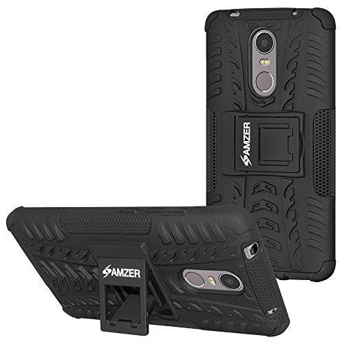AMZER Hybrid Warrior Dual Layer Slim Protective Shockproof Case Skin for Lenovo K6 Note - Black