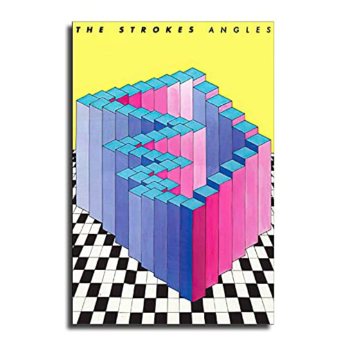 TROVACI The Strokes Angles Rock Band Poster Decorative Painting Canvas Wall Art Modern Classroom Kitchen Living Room Bedroom Posters Boys Women Gift 16x24inch(40x60cm)