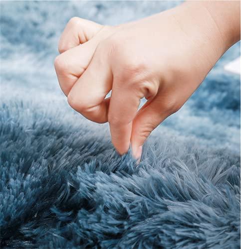 brand_name Alfombra de Felpa, Alfombra mullida, Alfombra Antideslizante para el hogar, Felpudo Cuadrado, Adecuado para la decoración de Salas de Estar y dormitorios (Azul Oscuro, 60x160cm)