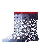 ESPRIT Damen Norwegian 3-Pack Socken, mehrfarbig (sortiment 0020), 36-41 (3er Pack)
