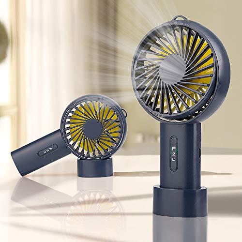 iBazal Mini Ventilador USB Mesa Eléctrico Profesional Pequeño Ventiladores Escritorio para Personal...