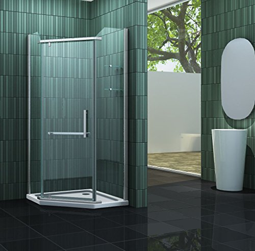 Fünfeck-Duschkabine FIVE 90 x 90 x 200 cm inkl. Duschtasse
