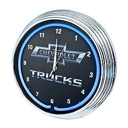 Neonetics Chevy Trucks Neon Wall Clock, 15-Inch