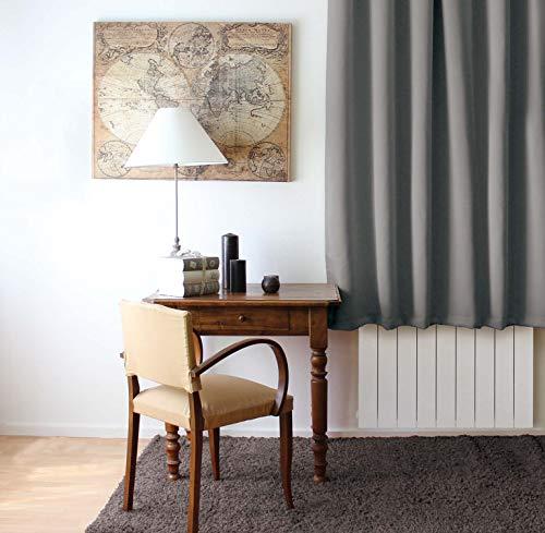 Enjoy Home 2010GR140180 Rideau Occultant avec 8 Oeillets Polyester Gris 180 x 140 cm