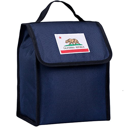Wildkin Kids Insulated Lunch Bag For Boys & Girls, Perfect Size for Packing Hot or Cold Snacks for School & Travel, Lunch Bags Measures 10 x 8.5 x 5 Inches, BPA-free (California Blue)