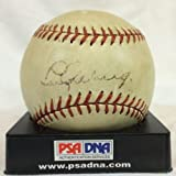 Magnificent Lou Gehrig Single Signed Autographed Al Harridge Baseball Psa & Jsa - Autographed Baseballs