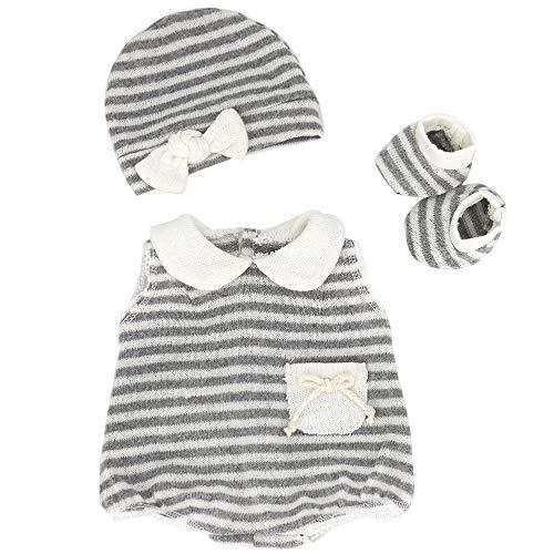 ZWOOS Vestiti per Bambole per New Born Baby Doll, Abitini con Cappello e Calzini per 18 ' Bambolotti (40-45 cm)