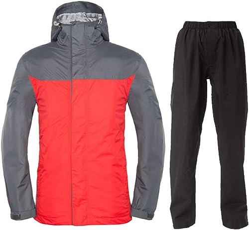 Guyuan Pantalon de Pluie imperméable pour Homme Feihong mode Split Adulte Double épaisseur imperméable Costume Moto équitation (Taille   XXL)