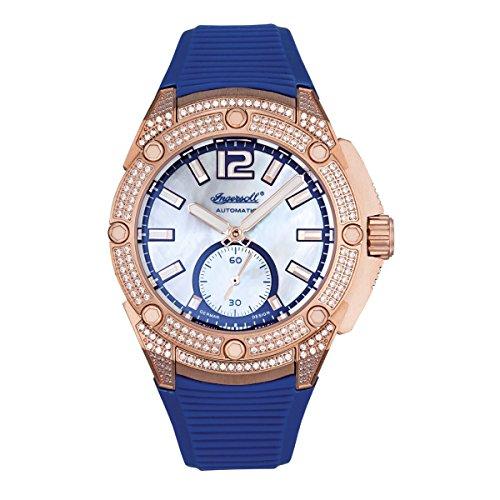 Ingersoll Damen Analog Automatik Uhr mit Lederimitat Armband IN1104RG