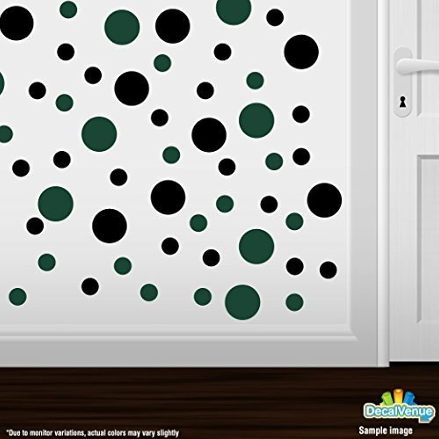 almacén al por mayor Set of 30 - negro   Dark Dark Dark verde Circles Polka Dots Vinyl Wall Graphic Decals Stickers by Decal Venue  barato y de moda