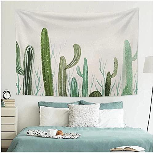 NC83 Tapiz Planta Verde Cactus Decorativo Pared Arte Tela de Fondo hogar Hippie decoración Yoga Mat 150x130cm