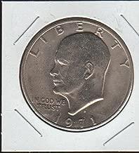 1971 D Eisenhower (1971-1978) $1 Choice About Uncirculated Details