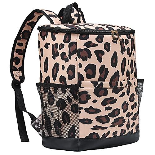 Cooler Backpack Women Leopard Leak Proof Backpack Cooler Bags Lightweight Soft...
