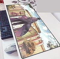 ゲーミングマウスパッド、大きなマウスパッド ラップトップコンピューター、デスクカバーコンピューターのためのNa-Rutoの大型カスタムマウスパッドパッドパッドのパッドは、キーボードステッチエッジオフィス理想マウスマット-D_800*300*3MM