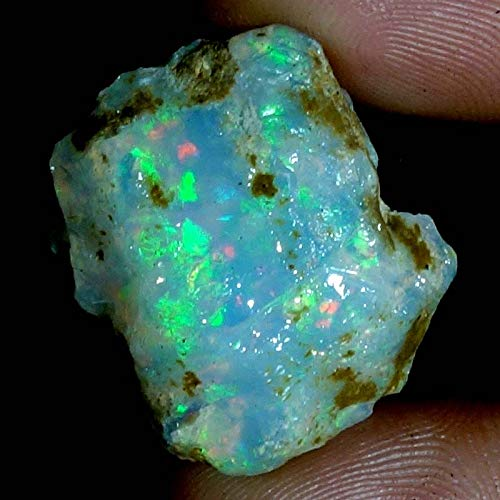 24.00Cts 100% A+ Natural Ethiopian Welo Opal Rough Stone, Raw Crystal, October Birthstone, Jewelry Making Gemstone, Ultra Fire Striking Opal, Opal Rock, Handpicked Stone, Size-15X22X13MM