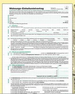 Mietvertrag RNK 599 A4 Einheitsmietvertrag